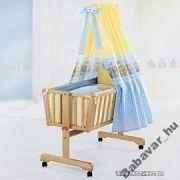 Bölcsőhöz textil szett: kék/ sárga macis