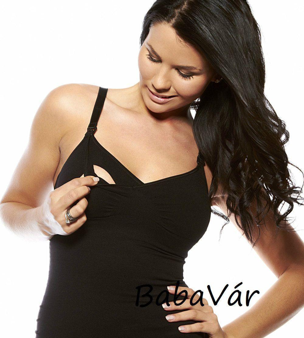 Boob szoptatós alakformáló trikó fekete  09f94b9072