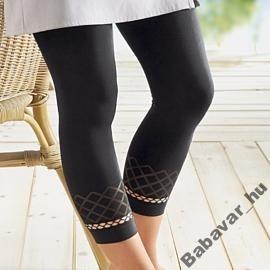 Capri fekete legging harisnyanadrág