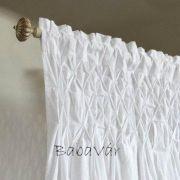 Mirabeau fehér pamut függöny: húzott