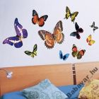 Pillangós fali dekormatrica