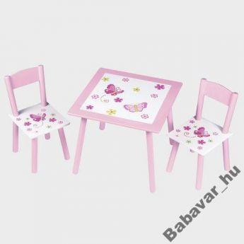 Rózsaszín Pillangós Asztal Szett