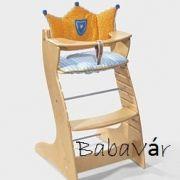 Roba Fa Lépcsős Etetőszék Párnával