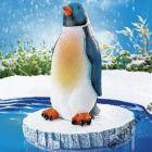 Világítós kerti dekor: pingvin