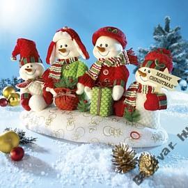 Zenélő táncoló hóemberek