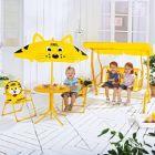 Gyerek Kerti Asztal Szett Ernyővel+Hintaágy