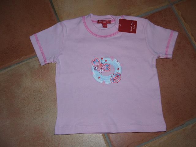 Rózsaszín Pillangós Kislány Poló  b40e6832e0