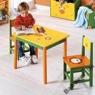 Szafaris  Asztal Két Székkel - Sárga