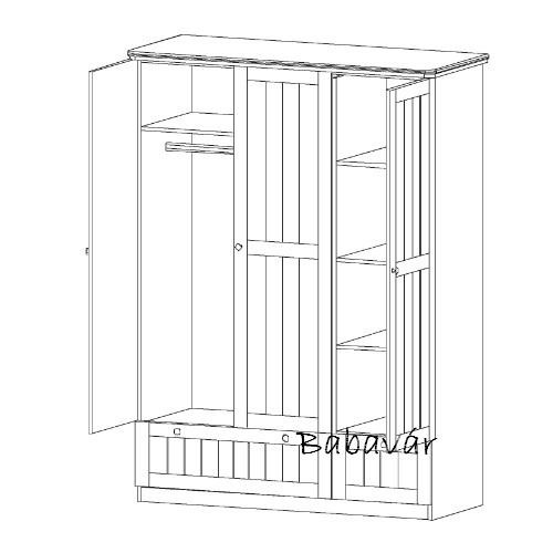 roba dreamworld 2 feh r 3 ajt s szekr ny babav r baba kismama outlet. Black Bedroom Furniture Sets. Home Design Ideas