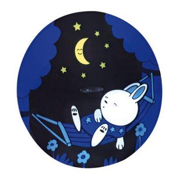 Kék nyuszis órás éjszakai fény/ kislámpa