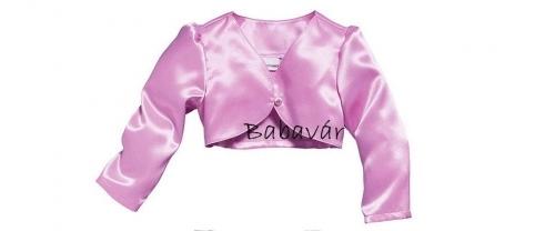 Rózsaszín alkalmi kislányruha boleróval keresztelőre is