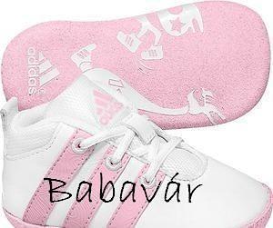 Adidas rózsaszín bőr babacipő  9e47ca85bd