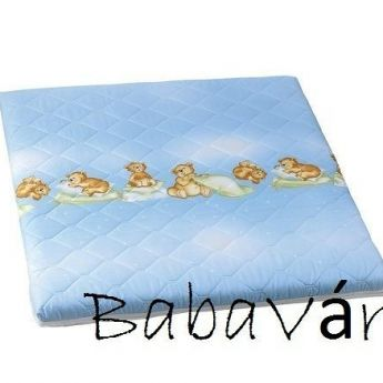 Alvi kék macis szivacsos járókabetét matrac