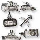 Autós/ repólős fém kis medálok