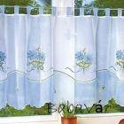 Azúr virágos vitrázs függöny