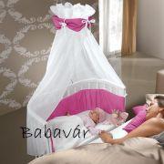 BabyBay baby bölcsőhöz fehér/pink baldachin