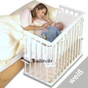 BabyBay baby midi szögletes bölcső matraccal Fehér