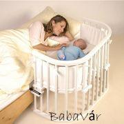 BabyBay baby fehér original bölcső lezáróval