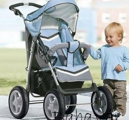 BabyWelt Nevada nagy kerekű sport babakocsi  kék  746eb20f14