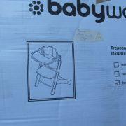 Baby -walz bükk fa lépcsős etetőszék tálcával
