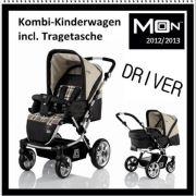 Babywelt Moon Driver Többfunkciós babakocsi mózessel Drapp H.