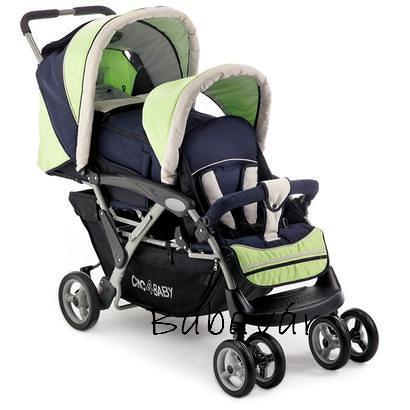 Chic 4 Baby Iker  Testvér babakocsi mózessel esővédővel ... 8238abb975
