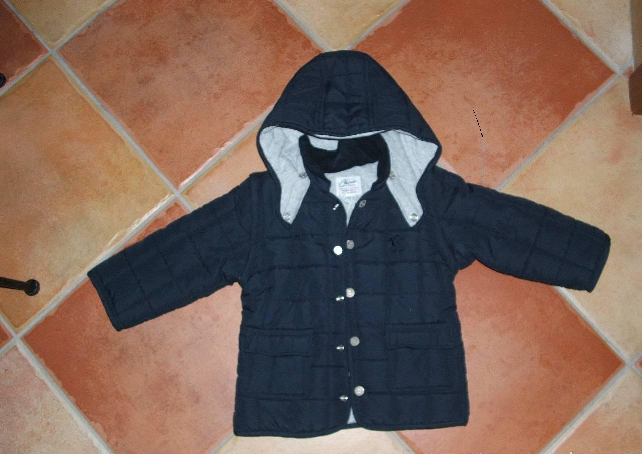 Chicco kék steppelt mellénnyé alakítható kabát  c2567154d6