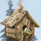 Fából készült madárház