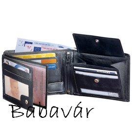 56e31acb0e Fekete bőr irattartó/ pénztárca | BabaMamaOutlet.hu