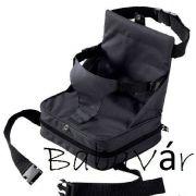 Fekete mobil székmagasító párna nélkül