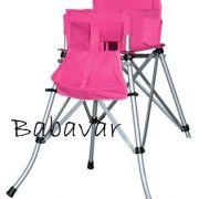 Fem-Ster hordozható összecsukható rózsaszín Etetőszék