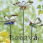Foszforeszkáló kerti leszúrós dekor pillangók