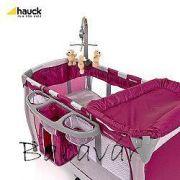 Hauck utazóágy- Baby Center Violet Játék nélkül