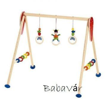 Hess-Spielzeug kék viking Fa Babatornáztató