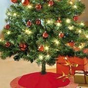 Karácsonyfa szoknya / terítő műfenyőnek