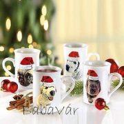 Karácsonyi Bögre Kutyusos Dalmata
