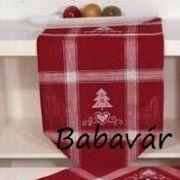 Karácsonyi asztalközép: hímezhető keresztöltéssel