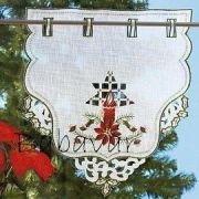 Karácsonyi dekor Gyertyás mini függöny