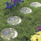 Kerti dekor: lépéskő, foszforeszkáló dísz