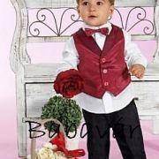 Fekete elegáns kisfiú nadrág