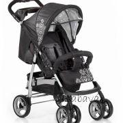 Knorr Baby fekete mintás sport babakocsi