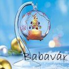 Karácsonyi álom: üveg világító asztali dísz karácsonyfa