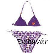 Lila pillangós Bikini/fürdőruha
