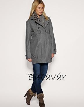 c78c5fb695 Mama Licious fekete gyapjú kismama kabát | BabaMamaOutlet.hu