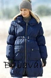 Mama Licious húzott kék kismama kabát