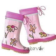 Maximo rózsaszín virágos  bélelt gumicsizma