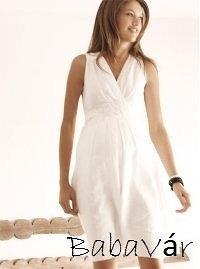 0b5b8fd550 Queen Mum fehér lenvászon ruha   BabaMamaOutlet.hu