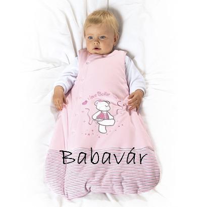 Rózsaszín Pamut bélelt Balettozó Macis Hálózsák