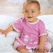 Rózsaszín pamut kislány póló