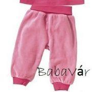 Rózsaszín plüss babanadrág